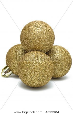 Christmas Decoration, The Shiny Golden Balls