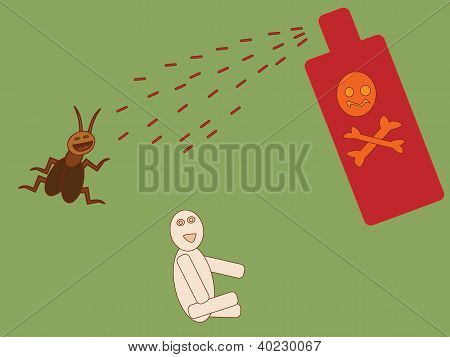 Vector Of Insecticide Spray To Kill