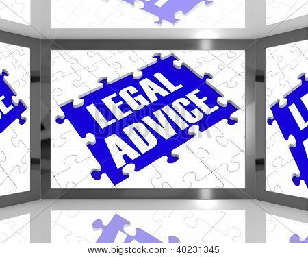 Legal Advice On Screen Showing Legal Consultation