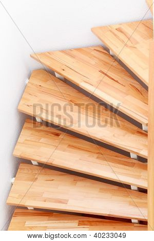 Staircase detail in modern family house - top view