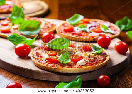 Traditional Pizza with salami and cheese