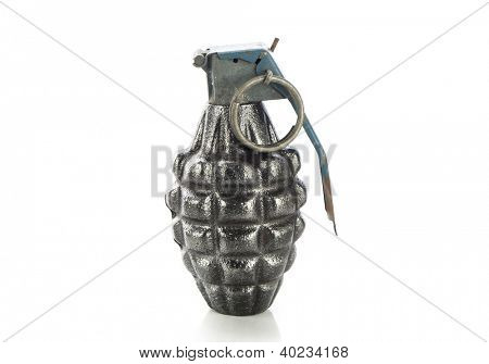 Hand grenade isolated on white