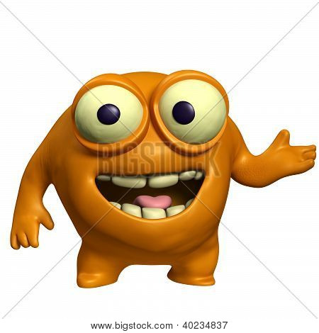Orange Cute Monster