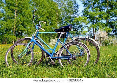 Two Old Bicycle