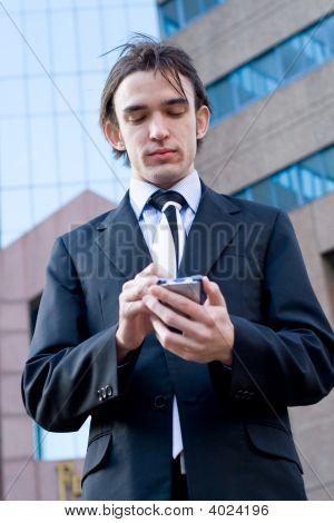 Businessman Computer