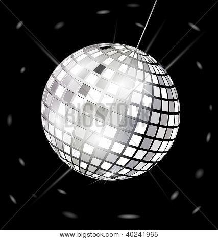schwarz-weiß-Disco-Kugel