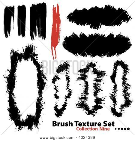 Collection Of Highly Detailed Vector Illustration Brushes And Frames- Set