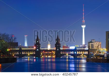 Oberbaum Bridge And Tv Tower