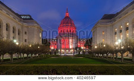 San Francisco City Hall At Night