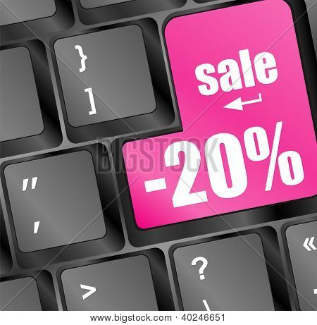 Sale Key With Percentage In Place Of Enter Key