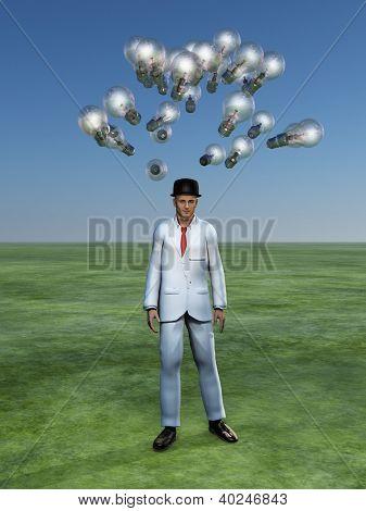Man has brain storm
