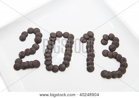 numbers of chocolate