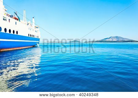ferry boat on port