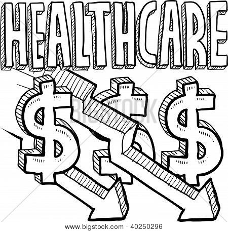 Sinkende Kosten im Gesundheitswesen skizzieren