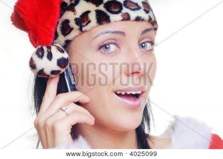 Santa com telemóvel