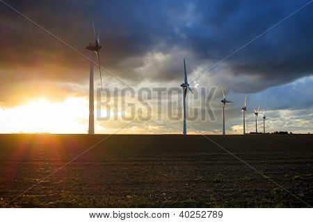 Renewable Energy Wind Power Windmill Turbines