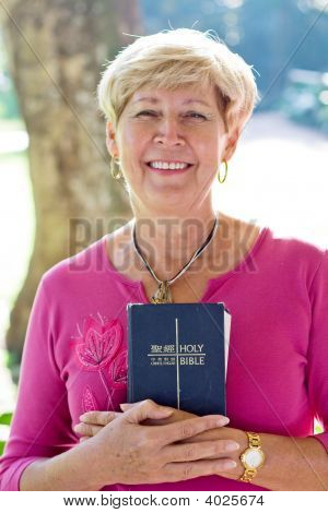 Senior Woman With Bible