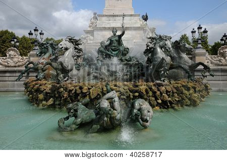 France, The Monument Aux Girondins In Bordeaux