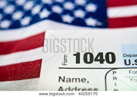 Estados Unidos forma retorno 1040 de impuesto sobre la renta Individual.