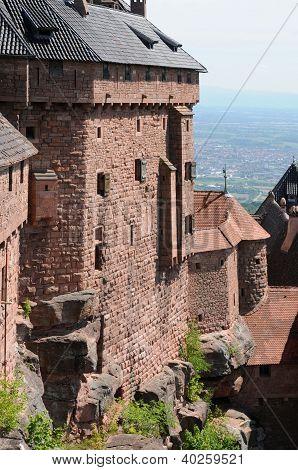France, Haut Koenigsbourg Castle In Alsace
