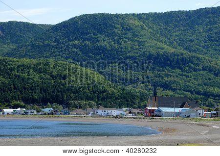 Quebec, The Small Village Of Saint Maxime Du Mont Louis