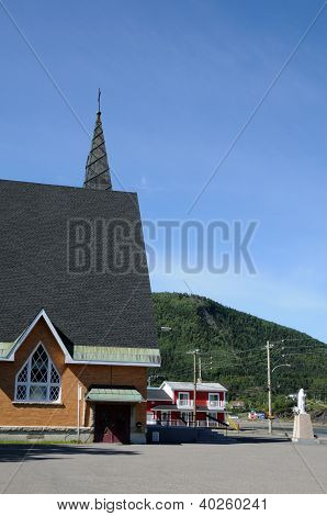 Quebec, The Historical Church Of Saint Maxime Du Mont Louis