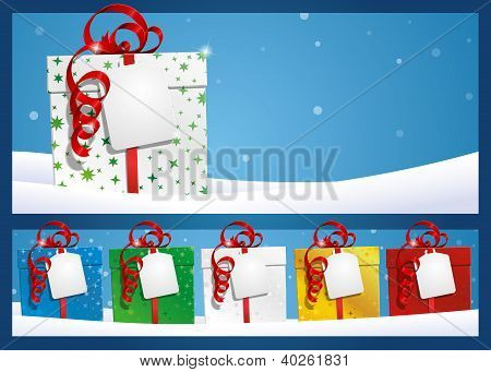 Winter Background - Gift With Label.eps