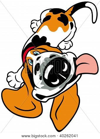 Cartoon Basset