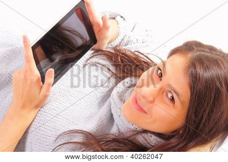 Beautiful Young Woman With Ipad