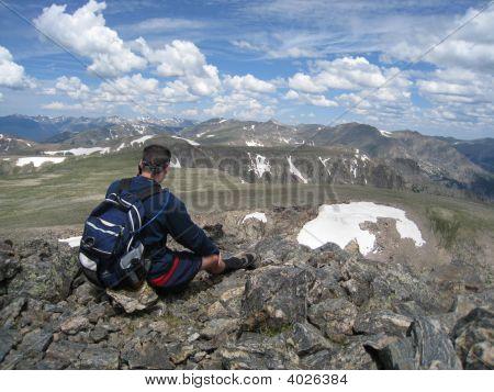 View From Top Of Hallett Peak
