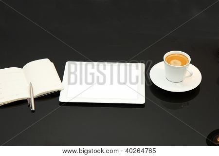 Coffee break con tablet PC