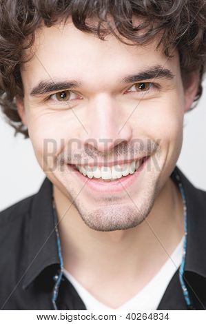 Handsome Man With Toothy Smile