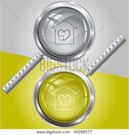Orphanage. Raster magnifying glass. Vector version is in my portfolio.