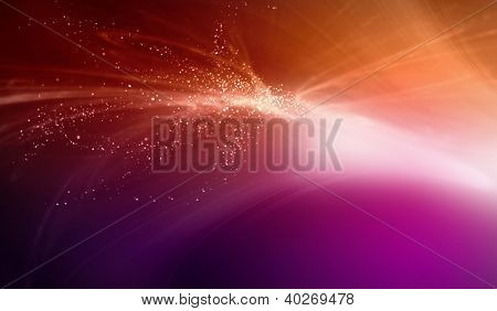 Colour glittering background with shining star dust or snow