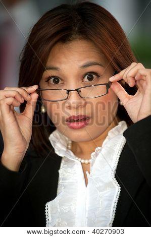 Beautiful Thai Businesswoman Wearing Eyeglasses 3.