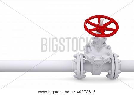 Valve On The Pipeline