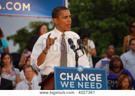Barack Obama an Bayfront Park, Miami, florida