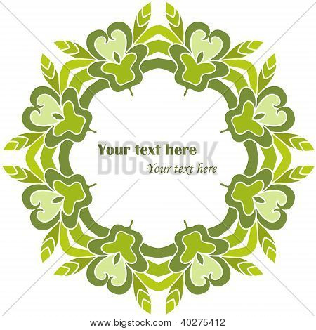 Green Decorative Round Frame