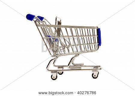 A Side View of a Miniature Shopping Cart XXXL