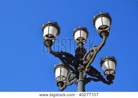 Ornate street lanterns