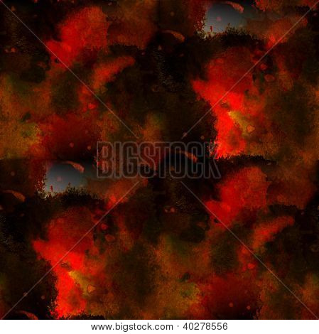 Seamless Red Black Background Abstract And Watercolor Design Ink