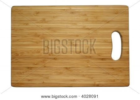Cutting Board Isolated On White With Clipping Path