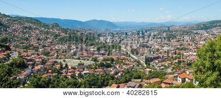 Panoramic views of the capital city of Bosnia and Herzegovina, Sarajevo.