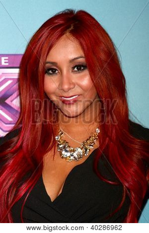 LOS ANGELES - DEC 19:  Nicole 'Snooki' Polizzi at the 'X Factor' Season Finale performances  show taping at CBS Television City on December 19, 2012 in Los Angeles, CA
