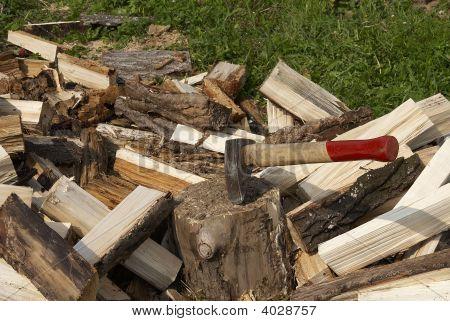 Heap Of Fire Wood