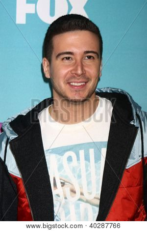 LOS ANGELES - DEC 19:  Vinny Guadagnino at the 'X Factor' Season Finale performances  show taping at CBS Television City on December 19, 2012 in Los Angeles, CA