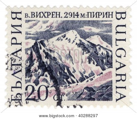 Mount Vihren On Bulgarian Post Stamp