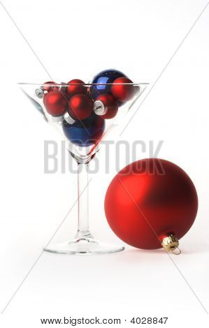 Martini Glass Full Of Christmas
