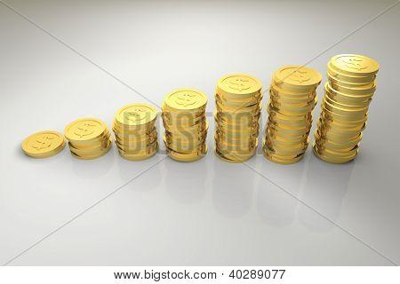 Ouro Dólar moeda gráfico