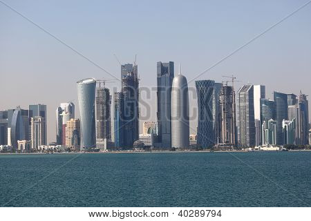 Skyline Of The Doha Downtown